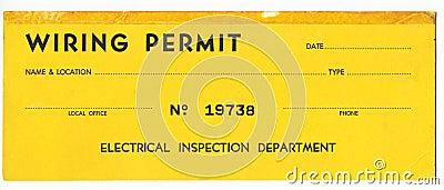 Old Wiring Permit