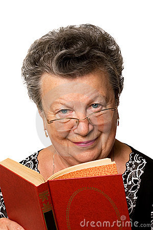 Old woman with the book