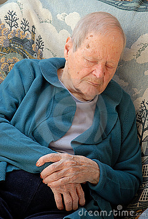 Free Old Woman Has A Catnap Royalty Free Stock Photos - 2182968