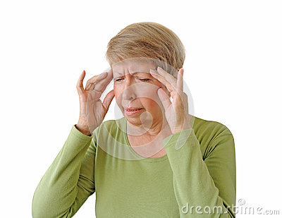 Old woman with a headache