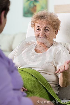 Free Old Woman In Bed Stock Photos - 52765043