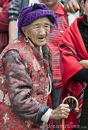 Old woman in Northern Yunnan Province Editorial Photo