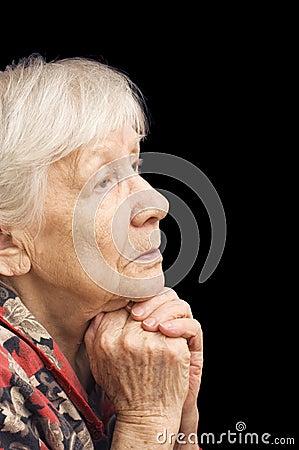 Old woman prays