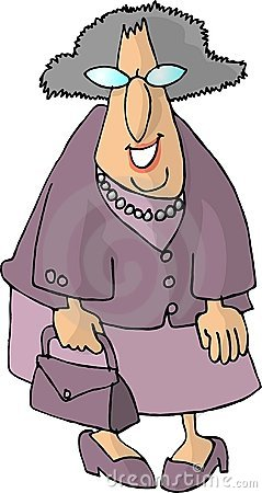 Old woman with a purse