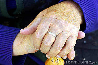 Old woman s hand