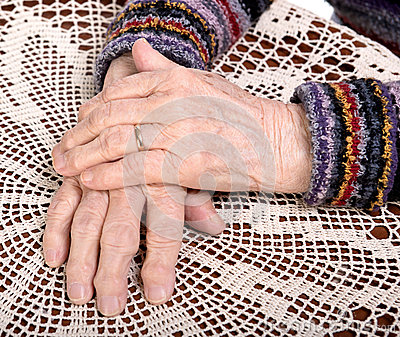 Old woman s hands