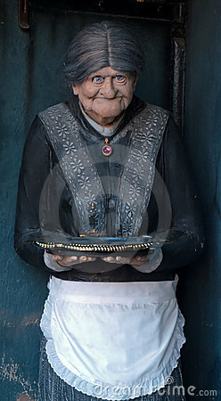Old woman sculpture