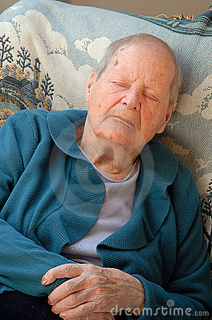 Free Old Woman Sleeping Royalty Free Stock Photography - 2183137