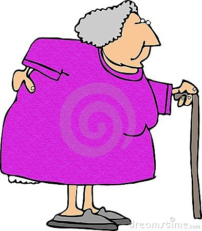 Old Woman with a sore back