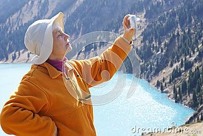 Old women in mountain
