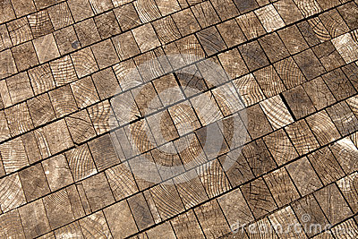 Old Wood Block Background