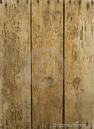 Free Old Wood Boards Nailed & Weather-beaten Stock Image - 15008921