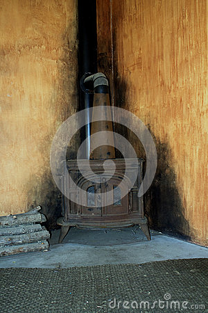 Old Wood Burning Stove Royalty Free Stock Photography