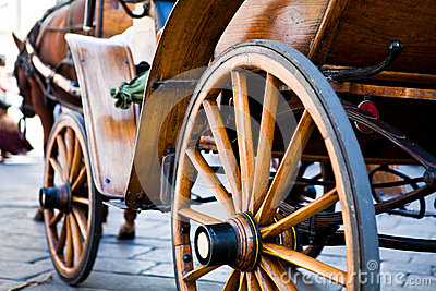 Old wood carriage