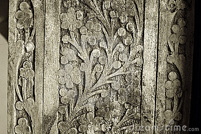 Old wood carving details