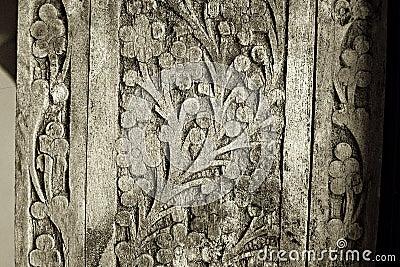 Old wood carving details