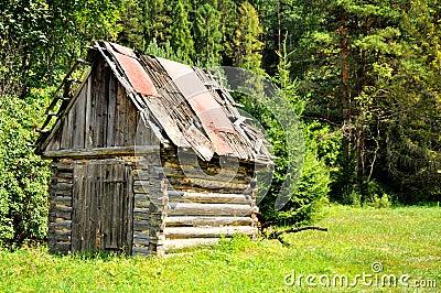 Old wood hut