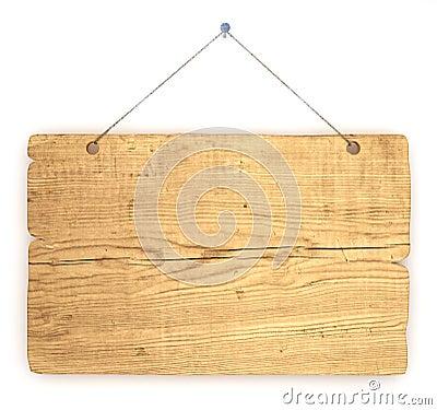 Old wood notice board