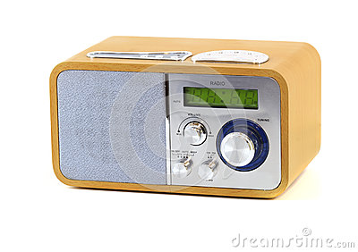 Old wood radio