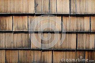 Old wood shingle