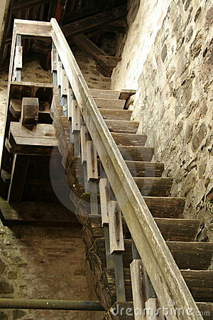 Free Old Wood Stairs Royalty Free Stock Images - 6493079