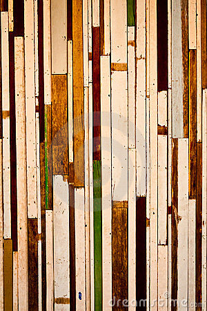 Old wood to a wall