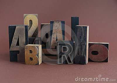 Old wood type group