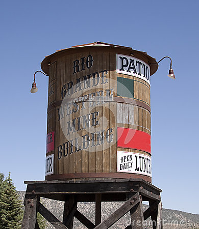 Old wood water tower