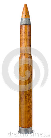 Old Wooden Artillery Practice Shell