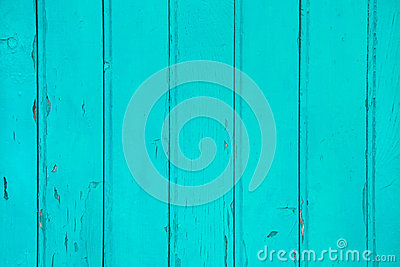 Old wooden background in green or turquoise color.