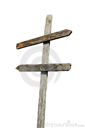 Old Wooden Blank Sign Post Royalty Free Stock Photography ...