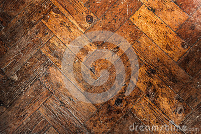Old Wooden Block Floor