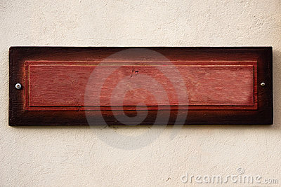Old wooden board on wall