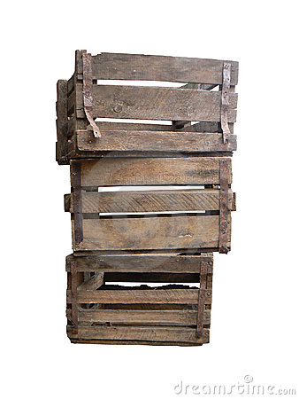 Free Old Wooden Boxes Royalty Free Stock Photos - 6510678