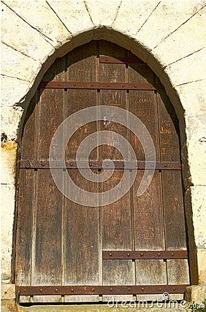 Free Old Wooden Castle Door Royalty Free Stock Photos - 21842518