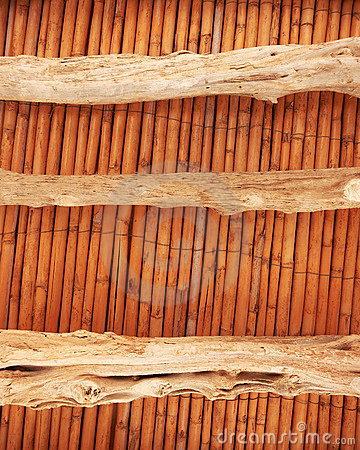 Old wooden ceiling restored