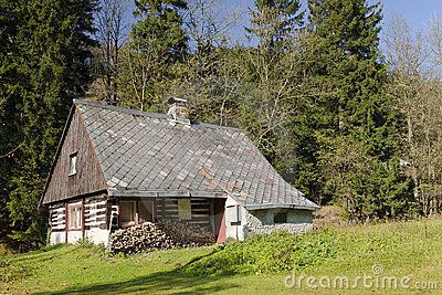 Old wooden chalet
