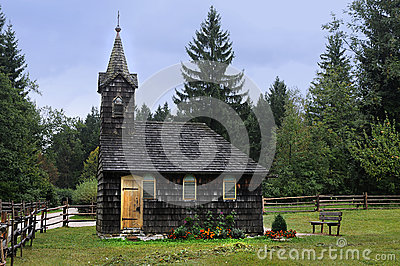 Old wooden chapel Editorial Photography