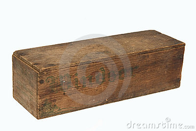 Old wooden cheese box.