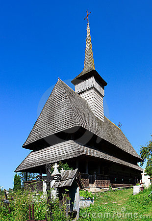 Old wooden church in Salistea de Sus, Maramures