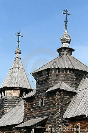 Old wooden church in Suzdal