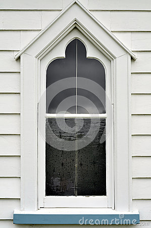 Free Old Wooden Church Window Stock Image - 42662671