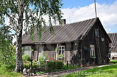 Old wooden country house stock photo image 18084480 - Maison de campagne perche ...