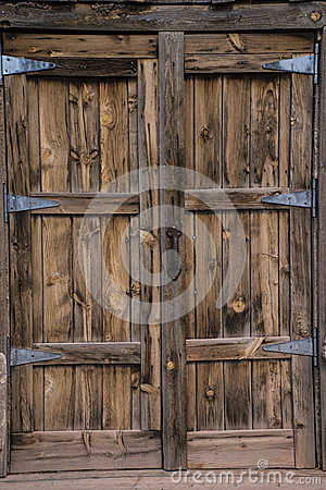 Free Old Wooden Door Royalty Free Stock Photography - 41441957
