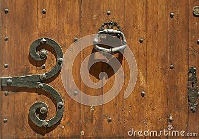 Abstract old wooden door background