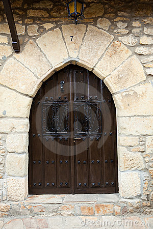 Old wooden door in Cantabria