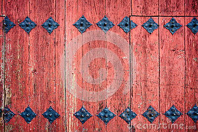 Old wooden door detail