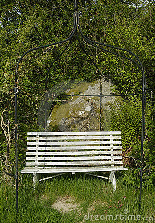 Old wooden garden bench