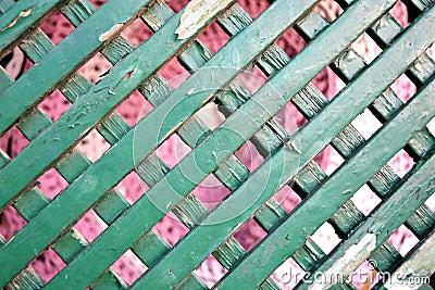 Old wooden garden fence