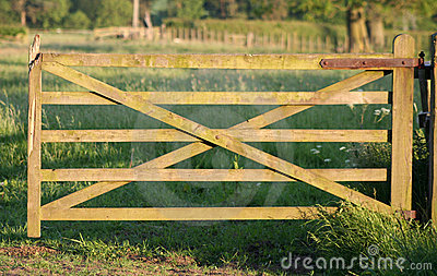 Old Wooden Gate to Paradise